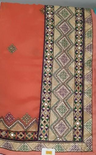 Silk Embroidered Designer  Saree