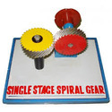 Single Stage Spiral Gears Model