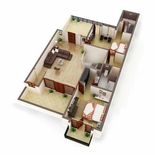 3d floor plan presentation service in jalahalli east bengaluru
