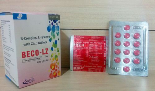 B Complex L Lysine With Zinc Tablets Snell S Therapeutics Indore