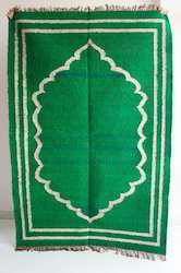 Handmade Flat Cotton Rug - Green