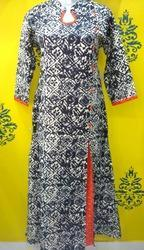 Double Layer Side Cut Cotton Kurti