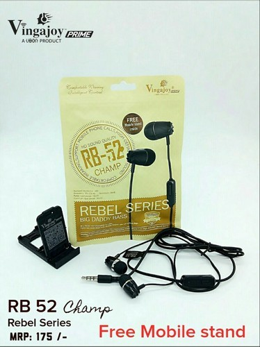 White & Black Vingajoy Earphones Rebel Series