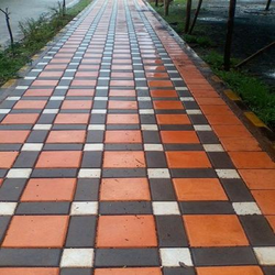 Glossy Finish Pattern Paving Block