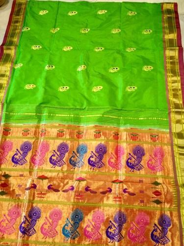Allover Butta Pure Silk Handloom Paithani Sarees