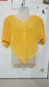 Hand Crocheted Yellow Poncho