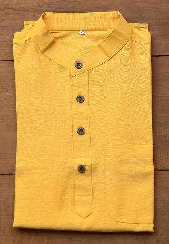 743b488075 Sun Yellow Short Kurta at Rs 599 /piece(s) | शार्ट कुर्ता ...