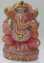 Beautiuful Rose Quartz Ganesha