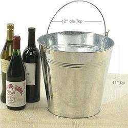 Galvanized Party Ice Bucket To Cool Beer