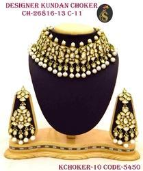 Golden Designer Kundan Choker Set