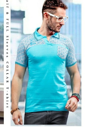 75e96b354c8 Mens Polo T Shirts - Collar Neck T Shirt Manufacturer from Surat