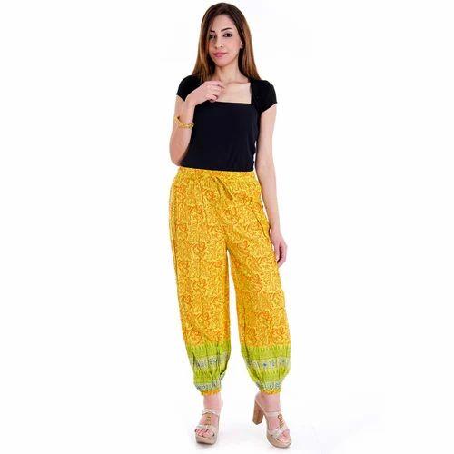 b9446555b938 Rajasthani Multi Color Floral Cotton Harem Pants at Rs 400  piece(s ...