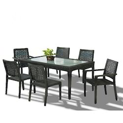 Table Top Glass Dining Table Set