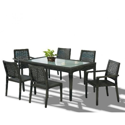 Gurudas Crafts Table Top Glass Dining Table Set for Home