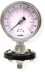 Economy Sealed Pressure Gauge ( Tension Cup Flange)