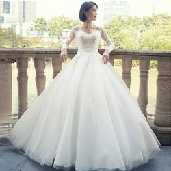 White Wedding Ball Gown V Neck, Wedding Gowns - A2 Fashion House ...