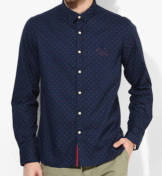 Cotton Dotted Party Wear Shirt