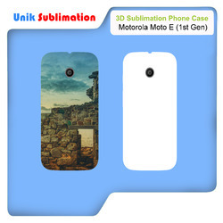 3D Sublimation Mobile Cover For Motorola Moto E 1st Gen