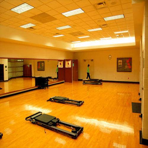 Asian Flooring Wooden Flooring Aerobic Wooden Hall Flooring, Thickness: 12 - 20 Mm