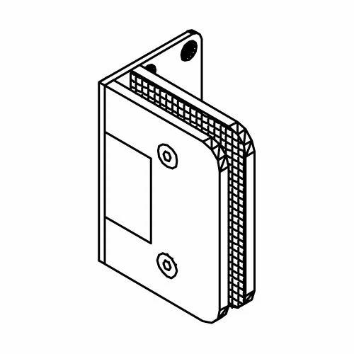 Dorma Glass to Wall Hinge 90 SNGL Side Plate, शावर का