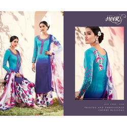 Cotton Embroidery Patiala Suit