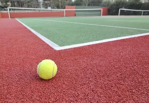 Asian Flooring Red Green Tennis Court Acrylic Flooring Rs 85