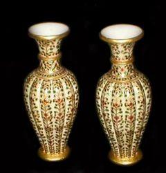 Meenakari Marble Flower Vases