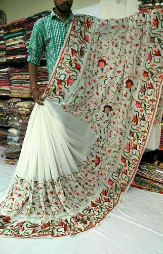 Kashmiri Embroidered Sarees