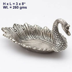 White Metal Duck Swan Tray
