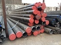 Black Round Mild Steel Seamless Pipe