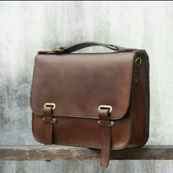 Dark Brown Leather Office Bag