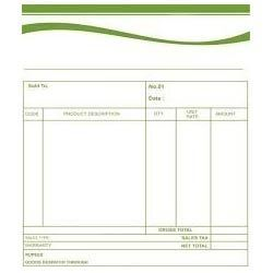 Bill Book Printing Service In Khajuri Bazar Indore ID - How to make a bill for services
