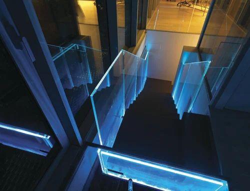 Panel Brown Led Glass Railing Rs 300 Meter Rajguru