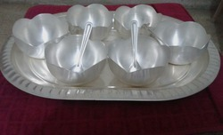 Silver Plated Bowls With Tray Set