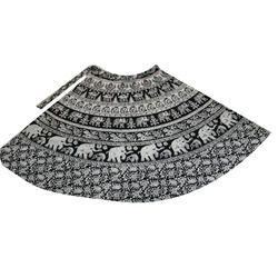 4084db272ea Rajasthani Ladies Wrap Around Skirt Women Cotton Wrap Skirt Block Print  Rapron Skirt White ...