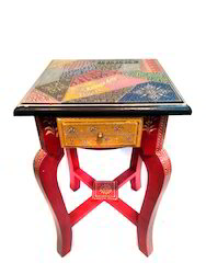 Corner Table With Embose