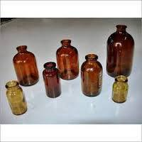 Moulded Amber Glass Vial USP Type I