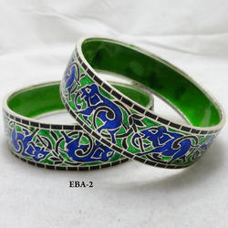 925 Sterling Silver Enamel Bangle