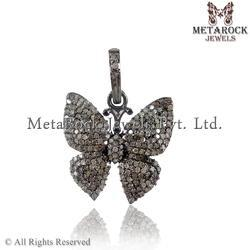Butterfly Shape Diamond Charm Pendant