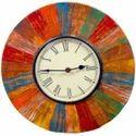 Reclaimed Wood Distress Finish Clock