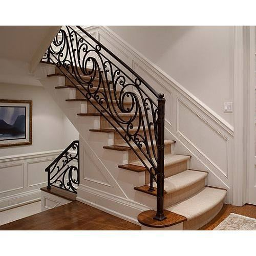 Decorative Br Staircase Railing