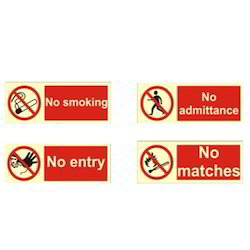 Prohibition Signages