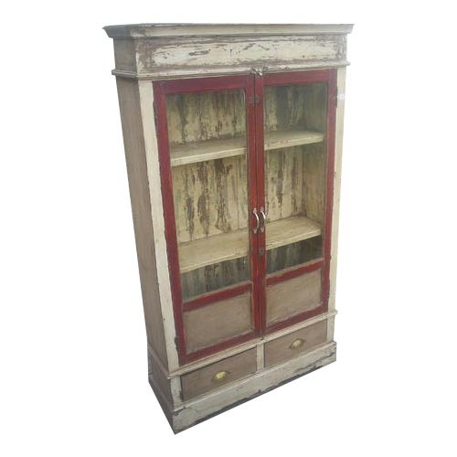 Wooden Antique Glass Cabinet - Wooden Antique Glass Cabinet At Rs 9500 /piece Kaanch Ki Almarian
