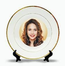 Personalised Golden Ring Ceramic Plates