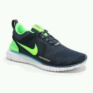 Men Nike Free OG Breathe Navy Blue Green Running Sports Shoes e599f31ba35a