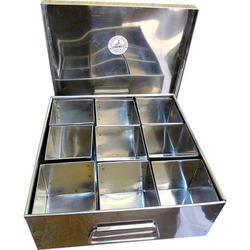 Stainless Steel Spice Box Ss Masala Box Latest Price