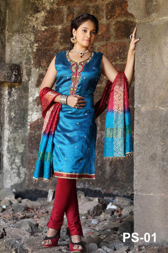 Designer Silk Salwar Kameez - View Specifications & Details of ...