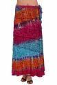 Colorful Rayon Wrap Skirt