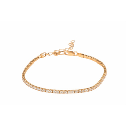 Ultra Shine Tennis Chain Crystal Wrap Rose-gold Plated Brace
