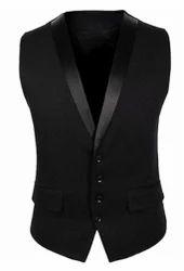 Black Regular Fit Waistcoat, Tuxedo Waistcoat